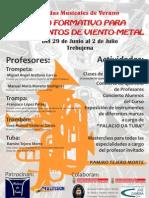 Curso Formativo Para Instrumentos de Viento Metal - Jornadas Musicales de Verano en Trebujena