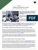 Social Media professionell nutzen