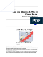 How to Implement Staging BAPI