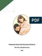 PERUBAHAN PSIKOLOGIS PADA MASA KEHAMILAN