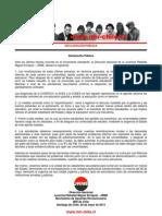 Declaración Pública JRME - 28 de mayo de 2013