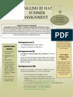 Summer Assignment 2013