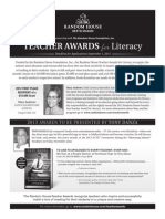 Random House, Inc. Teacher Awards for Literacy Ad in NCTE® Preview Program