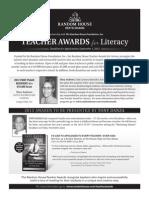 Random House, Inc. Teacher Awards for Literacy Ad in NCTE® Preview Program