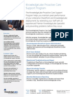 KnowledgeLake Proactive Care Program Brochure