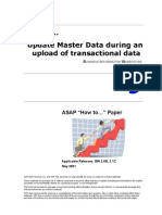 How to Update Master Data During an Upload of Transactional Data