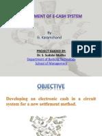 Development of E-Cash