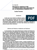 Soteriological Issues in the 1999 Lutheran-Catholic Joint Declaration on Justification