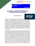 Ecologia y Costes de Produccion Capitalistas, No Hay Salida Immanuel Wallerstein