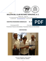 Boletín Rotario del 14 de mayo de 2013