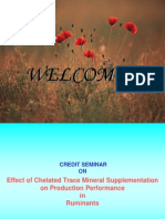 Role of Chelated Mineral in Animal Production Performance