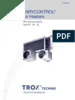trox duct heater