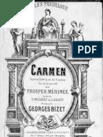 Vocal scores for Carmen, Bizet 1