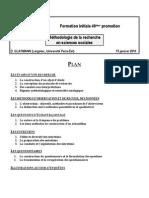 Presentation Intervention Methodologie Recherche Glaymann EN3S 15jan10