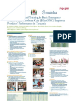 Competency-Based Training in Basic Emergency Obstetric and Newborn Care (BEmONC) Improves Porvers' Performance in Tanzania (poster version)
