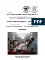 Boletín Rotario del 21 de mayo de 2013