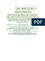 PLANTAS MÁGICAS Y MEDICINALES