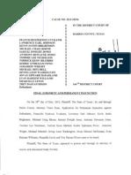 Brays Oaks Injunction