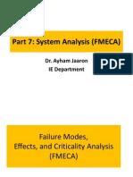4559(7)System Analysis FMECA