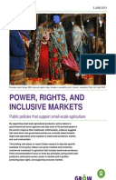 Power, Rights, and Inclusive Markets: Public policies that support small-scale agriculture