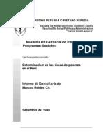 Determinación de las Líneas de Pobreza en el Perú