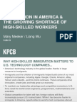 Immigration in America and the Growing Shortage of High-Skilled Workers