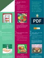 Triptico Cinco Claves para la seguridad de los alimentos