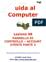 Guida al Computer - Lezione 98 - Pannello di Controllo – Account Utente Parte 2