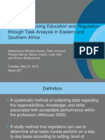 Improving Nursing Education and Regulation through Task Analysis in Eastern and Southern Africa