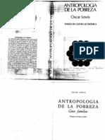 Antropologia de La Pobreza--oscar Lewis