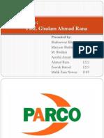 Strategic Management Project - PARCO