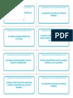 Enunciados Sobre Los Mitos, Para Recortar e Imprimir