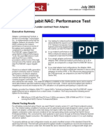 Adaptec Gigabit NAC Performance