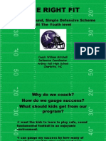 Sound Simple Defensive Schemes for Youth Football