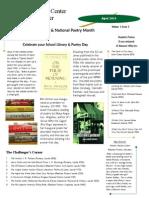 media center newsletter april 2013