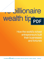 10 Billionaire Wealth Tips