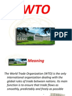 The WTO world trade organisation world trade organisation
