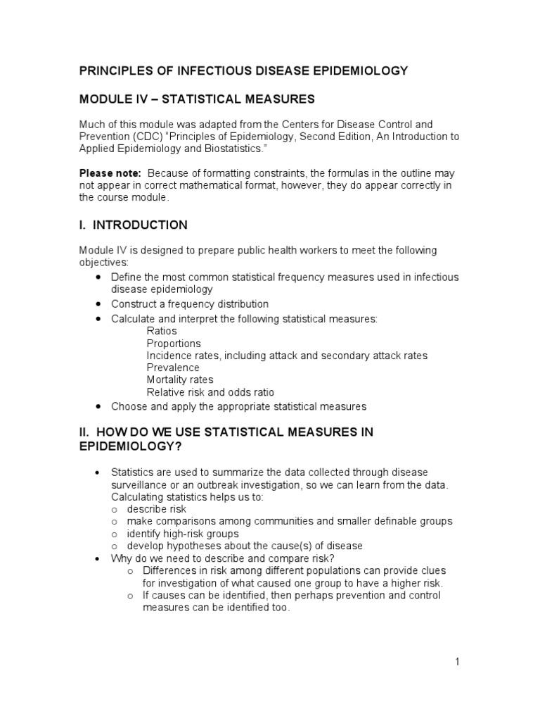 Epidemiology Notes | Relative Risk | Incidence (Epidemiology)