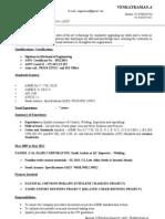 CV of Welding Inspector