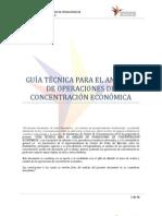 Analisis de operaciones de concentración de economia