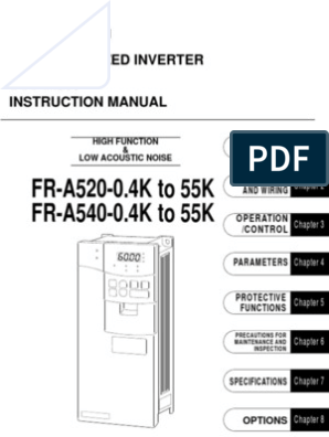 Mitsubishi A500 Series VFD Manual | Power Inverter ... on
