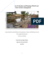 Application of Water Evaluation and Planning  (WEAP) Tool for Water resource management