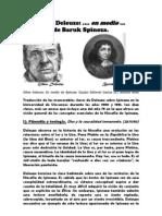 Deleuze en Medio de Spinoza