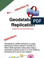Geo Database Replication