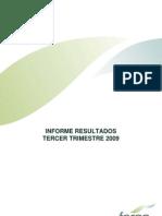 Fersa Informe resultados tercer trimestre 2009