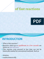 Kinetics of Fast Reactions Final