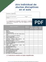 Registro Individual de Conductas Disruptivas en El Aula
