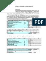 Aplicatii de fiscalitate corporativa in Excel
