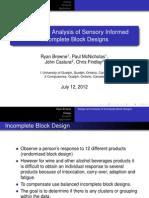 Design and Analyses Sensory