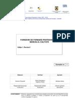 FFP- Documente Generale- Manualul Calitatii